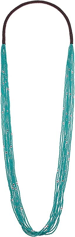 10 Strand Scattered Seed Bead Necklace