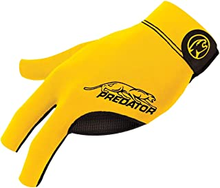 Predator Second Skin Billiard Glove Yellow: Fits Left Bridge Hand