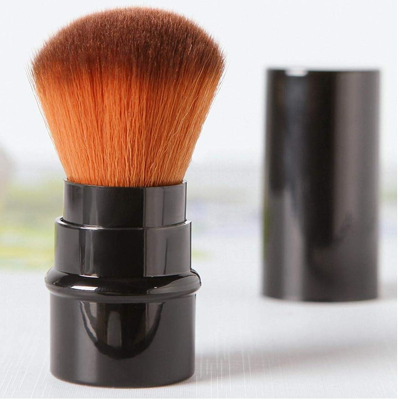 丘皮先住民ブラッシュ、ブロンザー、蛍光ペン用ミニトラベルサイズマルチタスクメイクブラシ(包装色と取り扱い色が異なる場合があります)
