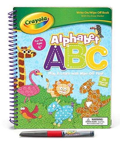 Bendon Publishing Crayola Spiral Wipe Off Book - Alphabet ABC