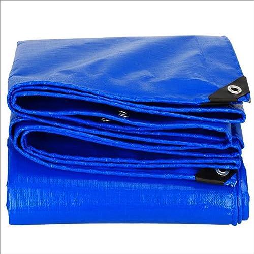 LI MING SHOP-Tents tentes extérieur Bache imperméable Crème Solaire Tente Bleu Plastique Blanc Poncho Bache de Voiture Housse de Pluie Différentes Dimensions + + 8 x 12 m