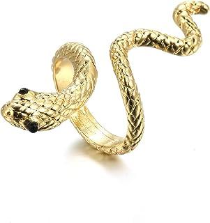 اختيار جميع خواتم الأفعى الصخرة الشرير القابلة للتعديل للنساء ريترو القوطي الإصبع مجوهرات الملحقات
