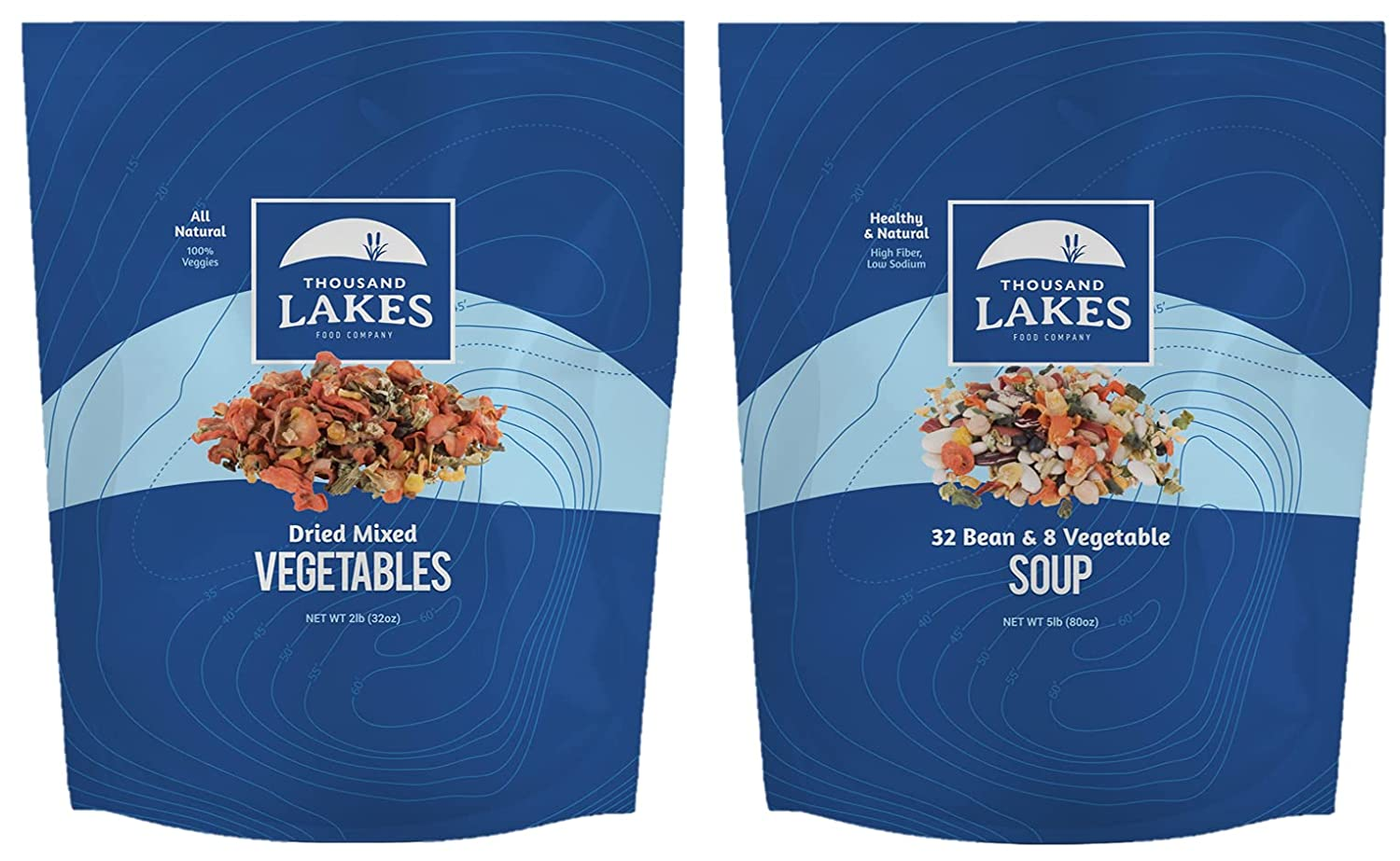 Thousand Lakes Mixed Vegetable Soup Blend and Special price for a limited time 32 Vege Long-awaited Bean 8