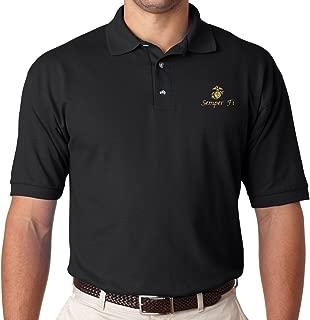 U.S. Marine Corps Semper Fi Polo Shirt. Black