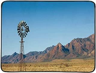 YOLIYANA Windmill Decor Utility Beach Mat,Flinders Ranges South Australia Mountains Barren Land Summer Decorative for Home,One Size