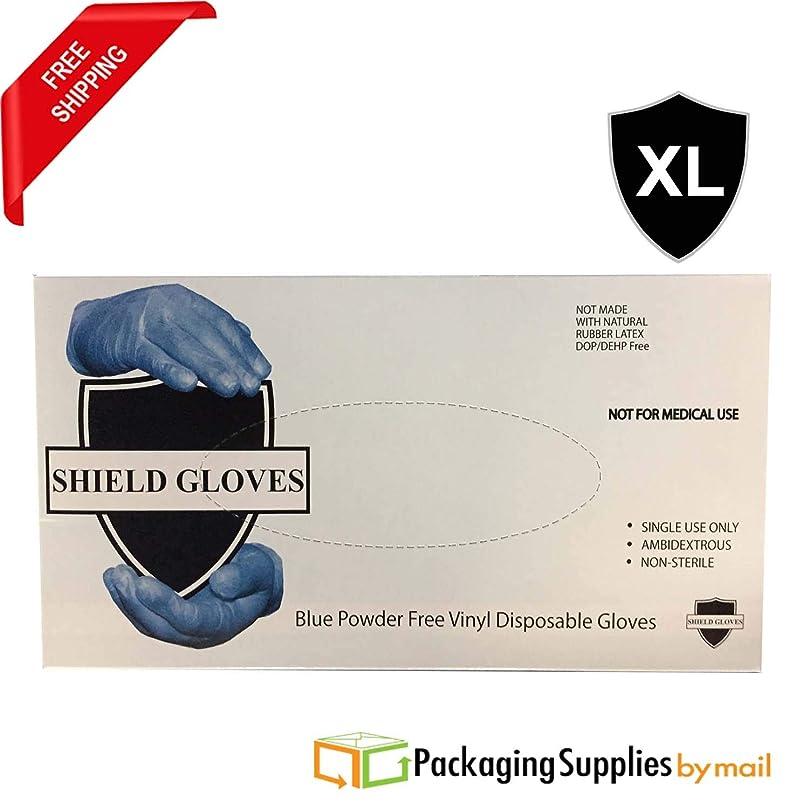 平らなスピリチュアル後者10000個 ブルービニール産業用ラテックスフリー 使い捨て手袋 パウダーフリー 4.5ミル XL