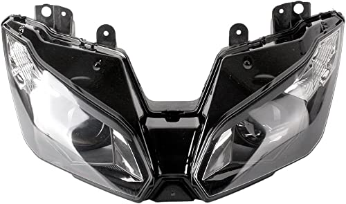 discount Mallofusa Motorcycle Front Headlight outlet online sale Headlamp Assembly Compatible popular for Kawasaki Ninja ZX6R 2013 2014 outlet sale