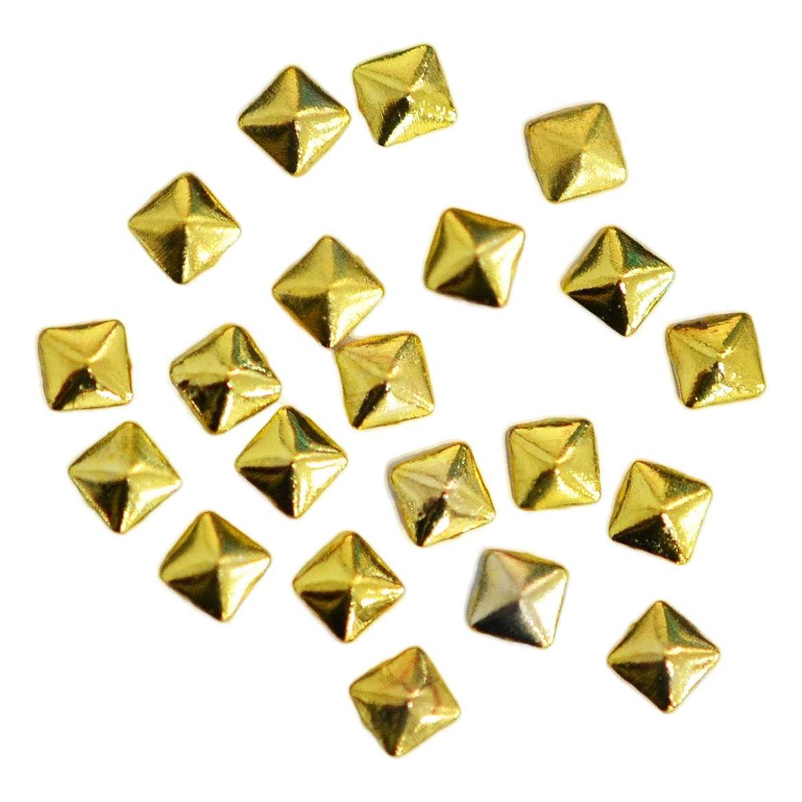 テスト咽頭活性化メタルスタッズ スクエア 2mm / ピラミッド型 四角錐 20粒