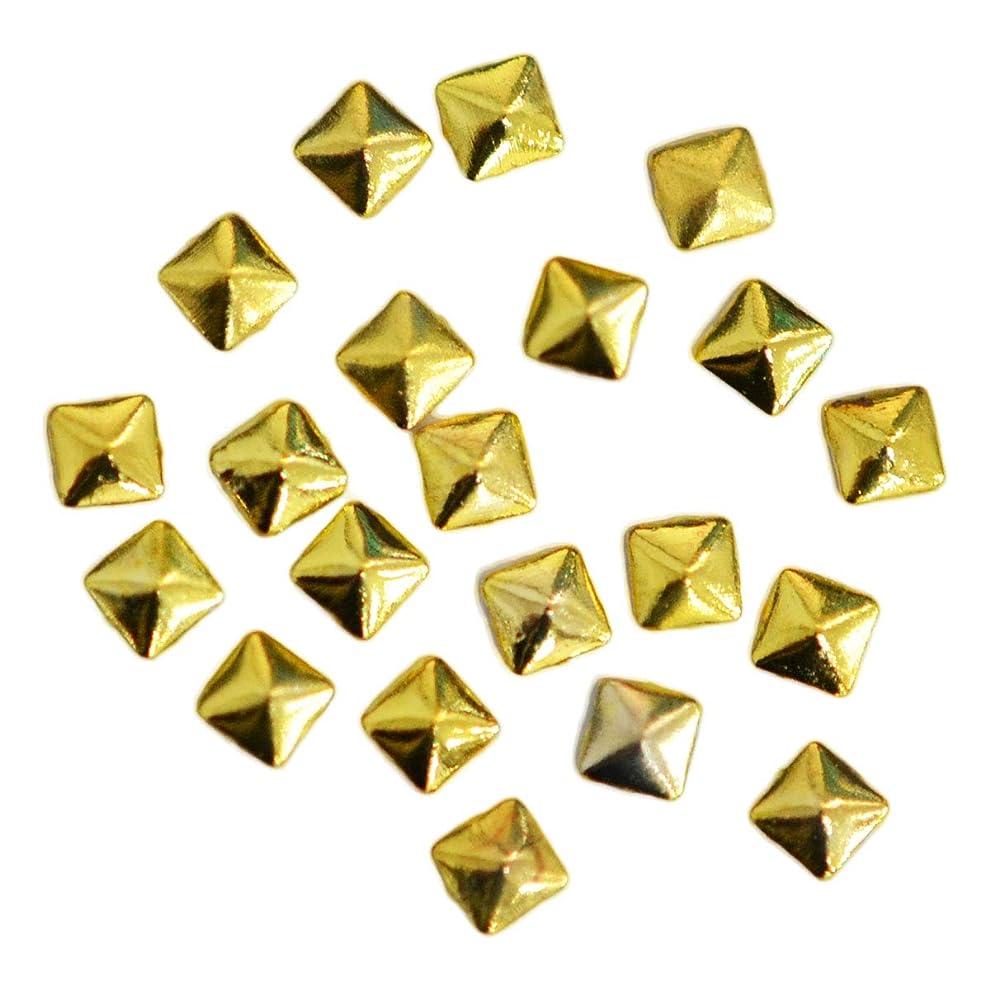 欠員スティーブンソンスペルメタルスタッズ スクエア 2mm / ピラミッド型 四角錐 20粒