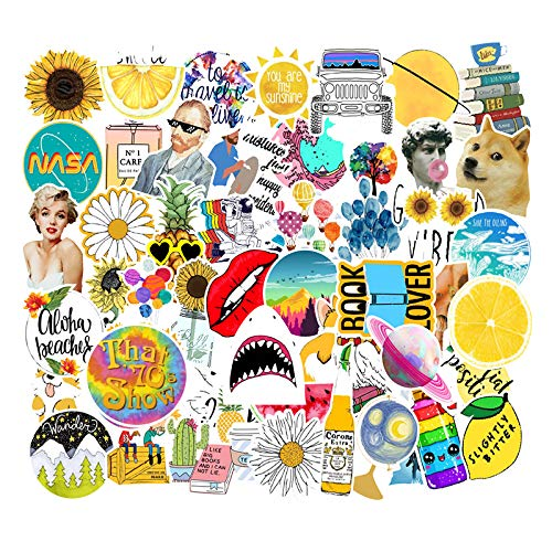 50 PCS Sticker for Hydro Flask, Waterproof and Durable Vinyl Stickers Pack for YETI Contigo Water Bottles, Laptops, Computers, Keyboards, Macbooks, Notebooks, Luggage, Skateboards (D)