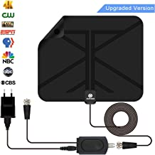 TV Antenna for Digital TV Indoor,Sukses HDTV Antenna with 100 Miles Long Range,Support 4K 1080P,All Types TV's with Powerful Detachable Amplifier Signal Booster, 16.5 Feet Coaxial Cable 2019 New