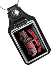 Brotherhood Sanford and Son Salvage Truck Red Antiques Buy Sell Junk Faux Leather Keychain Key Holder Key Ring for Men Heavy Duty Car Keyring for Men and Women