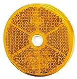 HELLA 8RA 002 014-872 Rückstrahler - Lichtscheibenfarbe: gelb