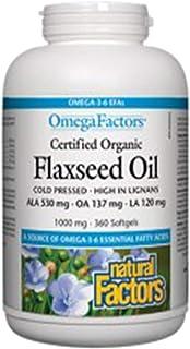 Natural Factors Flaxseed Oil 1000 mg 90 Softgel
