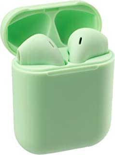 S MOBILE Bluetooth Earphones Bluetooth 5.0 TWS Earbuds 3D Stereo Touch Control with Mic Sweatproof OneStep Pairing (Green)