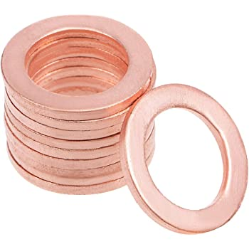 20pcs 12mm x 18mm x 1.5mm Copper Flat Washer Ring Sealing Fitting