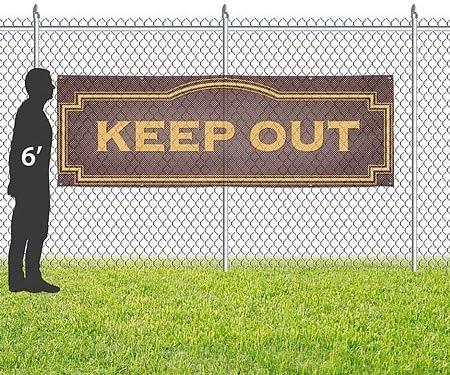 Please Keep Off Grass 9x6 Chalk Banner Wind-Resistant Outdoor Mesh Vinyl Banner CGSignLab