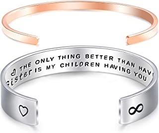 Melix Home Aunt Bracelet Sister Gift The Only Thing Better Than Having You As My Sister is My Children Having You As Their...