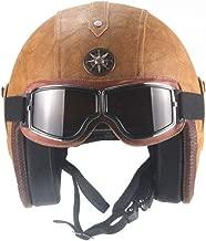 M, Bronzo Made in Italy Baruffaldi Casco Jet Scooter Moto Vintage interno in pelle e calotta verniciata