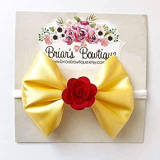Belle Bow Headband or Hair Clip