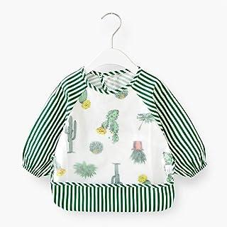 0-4 Years Old Children Anti-fouling Clothing Waterproof Long-sleeved Bib Painting Clothes Baby Anti-dressing Sleeved Bib U...