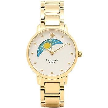 ケイトスペード 時計 KATE SPADE KSW1072 GRAMERCY MOON PHASE COCKTAIL グラマシー レディース腕時計ウォッチ ホワイト/ゴールド [並行輸入品]