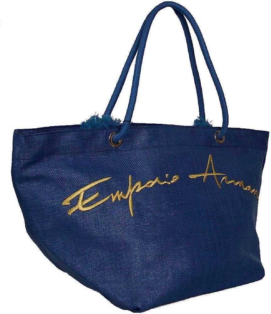 Emporio armani, borsa mare a mano/spalla per donna, in materiale sintetico 262587 0P824
