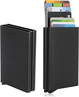 Card Holder, Men Credit Card Holder, Slim Card Case Front Pocket Anti-theft-RFID Auto Pop up Travel Thin Wallets for Men