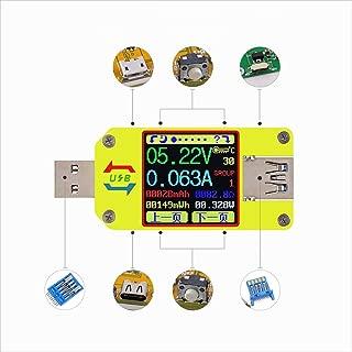 L.P.L 電圧計 電流計 UM34 UM34C APP25 USB 3.0 Type-C DC 電圧 電流計 測定 ケーブル 抵抗テスター (Color : イエロー, Size : UM34C)