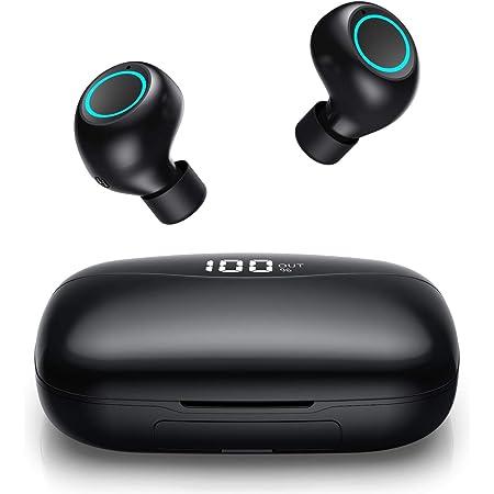 Black-85 Casque Bluetooth sans Fil,Ecouteur Bluetooth Auriculaires avec Micro Stereo 15 Heures Playtime Etanche IPX5 Oreillette Bluetooth Sport pour Android iOS PC