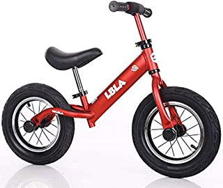 Kids Balance Bike, No Pedal Toddler Bike with Carbon Steel Frame Adjustable Handlebar and Seat 12inch Toddler Walking Bicy...