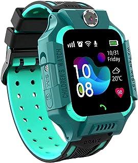 linyingdian Smartwatch Niños,Reloj Inteligente Niños con Flashlight, IP67 LBS SOS, Cámara, Smartwatch con Ranura para Tarj...