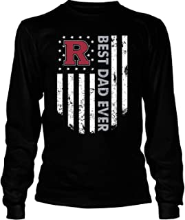 ROEBAGS Father's Day 2019 T Shirt, Rutgers Scarlet Knights Best Dad Ever T Shirt - Long Sleeve Tees