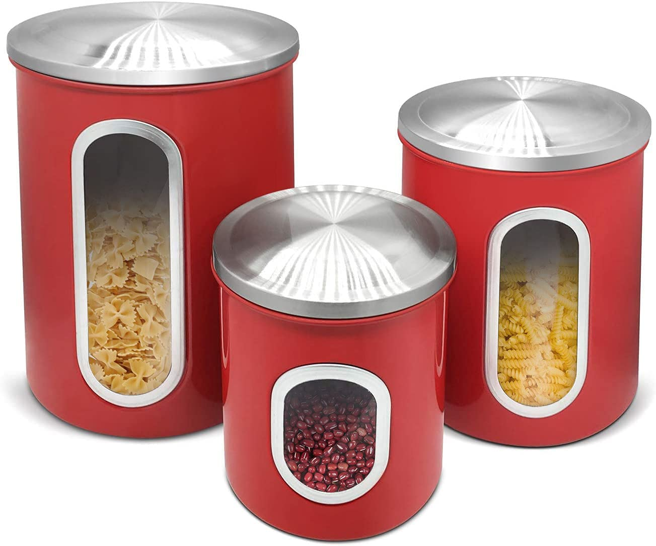 Canister Sets Discount mail order For Kitchen Cont Luxury Steel Stainless Counter