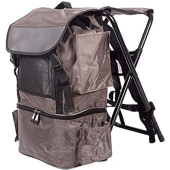 WING Pack de Sac à Dos et Tabouret, 2 en 1 Pliable Chaise de pêche Camping Portable Pliable siège Pique Nique Sac à Dos pour Le Camping, pêche,