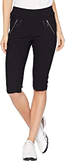 Jamie Sadock Womens Rasin Textured Skinnylicious Slimming Pull-On Knee Capris