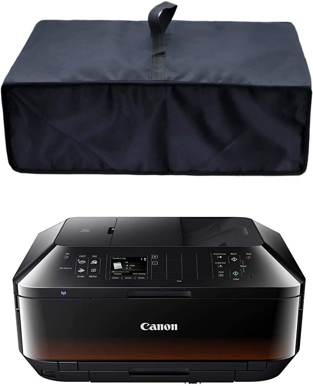 Black Antistatic Water Resistant Heavy Duty Premium Fabric Printer Dust Cover for Canon Pixma MX722 / MX922 / MX925 Printers