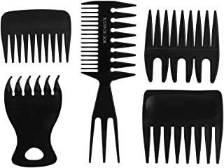 Retro Hair Comb Hairdressing 5pcs Hairdressing Comb Wide Tooth Comb Hairstylist Home Salon Hairdresser