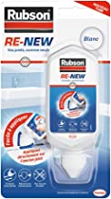 Rubson RE-NEW Blanc (1 x 80ml), mastic sanitaire blanc à base de silicone, s'applique sur le joint déjà existant, mastic é...