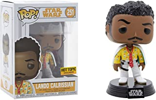 Funko Lando Calrissian (Hot Topic Exclusive): Solo - A Star Wars Story x POP! Vinyl Figure + 1 Official Star Wars Trading Card Bundle [#251/27821]