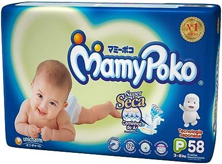 Fralda Fita MamyPoko tamanho P, pacote contendo 58 unidades