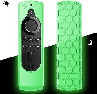 Fintie for Fire TV Stick 4K / Fire TV Stick 第2世代 / Amazon Fire TV 第3世代 Alexa対応音声認識リモコン 専用カバー 軽量 滑りとめ 衝撃吸収 シリコン 保護ケース (蛍光グリーン)