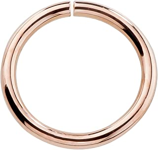 14k Rose Gold Nose Hoop Cartilage Earring Choose From 4 Sizes Petite Seamless Earrings For Sensitive Ears