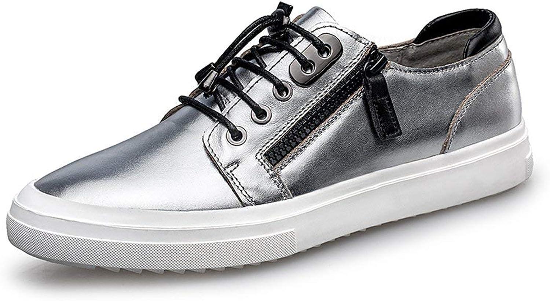ZHRUI Boy's Men's Low Top Velcro Leisure Trainer Fashion Sneaker (color   Grey, Size   7.5 UK)