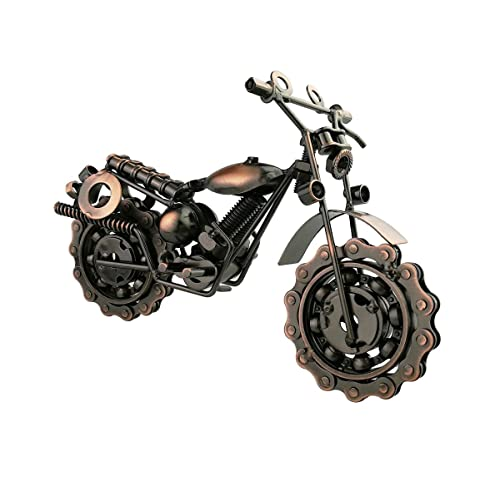 Winterworm Creative Retro Iron Art Motorcycle Model Metal Moto Collection Simple Modern Home Decor Ornaments For