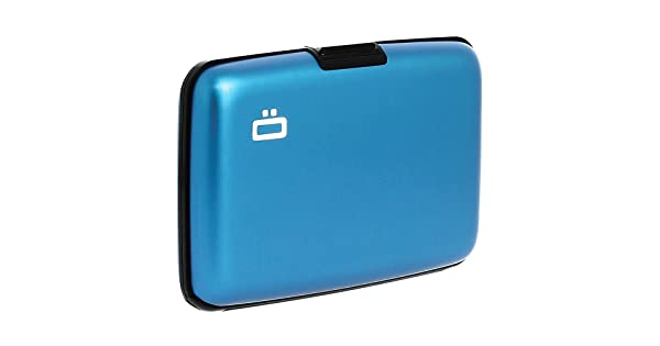 Blue Ogon Ribbed Clip On Credit Card Case