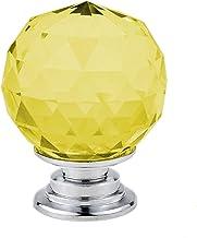 GAXQFEI Deurklink kast deurklink 5/10 Stks 30 Mm Crystal Ball Glass Knoppen Kast lade Pull Keukenkast Deur Garderobe Handv...