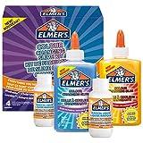 ELMER'S Kit per Slime Cangiante, include la Colla Cangiante, con Liquido Magico Attivatore di Slime si Attiva con Luce UV, 4 Pezzi