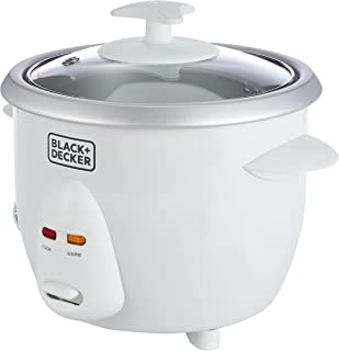 Black+Decker 0.6 L/ 2.5 Cup Rice Cooker, white - RC650-B5, 2 Years Warranty
