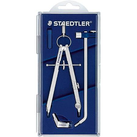 STAEDTLER Mars® Comfort set compasso di precisione, dotato di adattatore universale, prolunga e astuccio portamine, diametro da 26.5 cm, 551 02